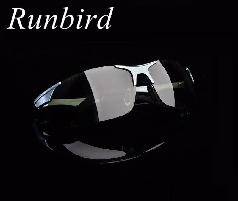 RunBird Top Quality Polaroid Sunglasses Men Driving Sun Glasses UV400 Protection Driving Sun Glasses 066