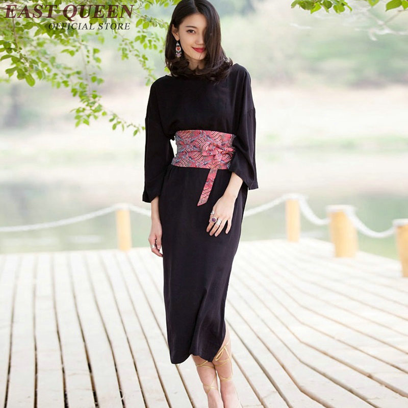 kimono ladies clothes Traditional Japanese kimono Three quarter sleeves Elegant summer dress AA2156 SX