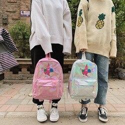 Mochila infantil lasera szkoła torby holograficzny torba plecak szkolny dla dziewczynek plecak szkolny torba dla dzieci plecaki dla dzieci 6