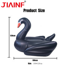 JIAINF Hot Selling Giant Inflatable Riding Black Swan Water Pool Floats Pool party toy Swimming Air Mattress Bed summer floats(China)