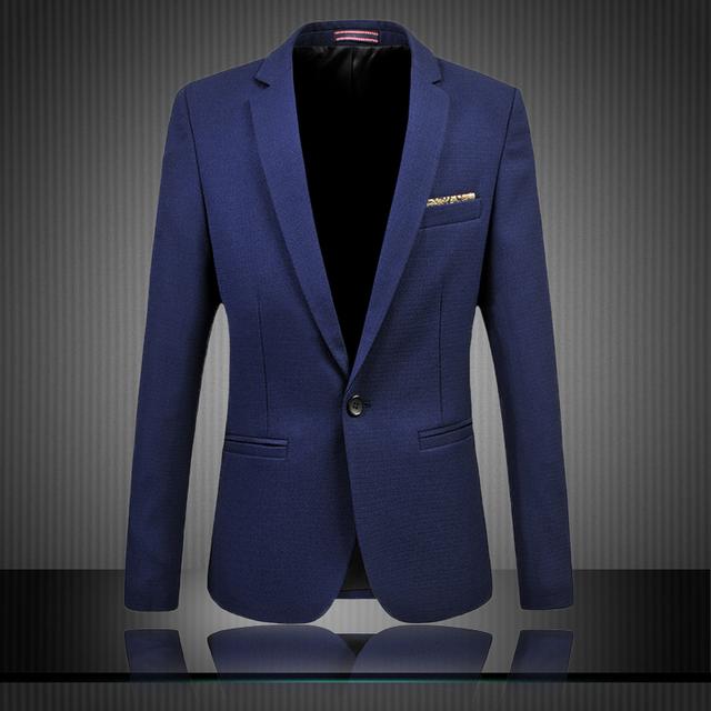 Trabalho jaqueta M-6XL Sólidos Formal blaser masculino homme traje dos homens Slim fit Blazers casuais Jaquetas Casacos De Negócios MQ342