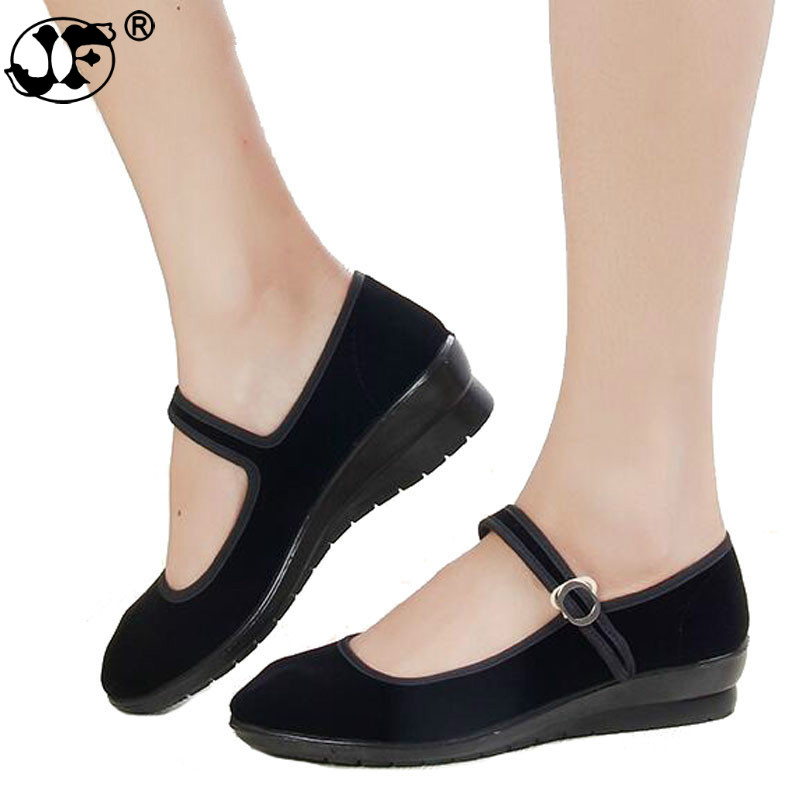 2018 Mary Janes Ladies Flats Buckle Strap Comfortable Women Shoes Round Toe Solid Casual Shoes Plus Size Black dfv67 lin king fashion women casual shoes round toe thick sole ankle strap lolita shoes sweet buckle bowtie solid lady outdoor shoes