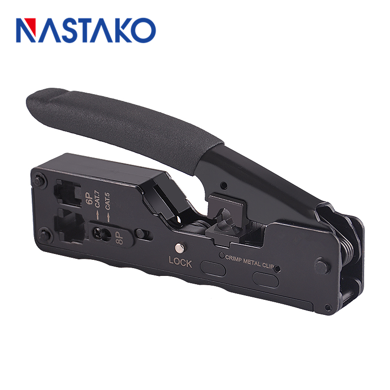 NASTAKO High quality Network Telecom Crimping Tool for RJ45 RJ11 Cat7 Cat6A Cat5 Modular Plugs Metal Plier Crimper Combo Kit сплит система ballu bsli 18hn1 ee eu