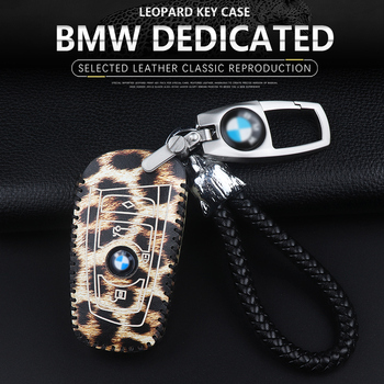 High quality Genuine Leather Car Key case Cover for BMW 1/3 5series X1 X3 X5 X6 Z4 Smart 3 buttons remote protect shell starline