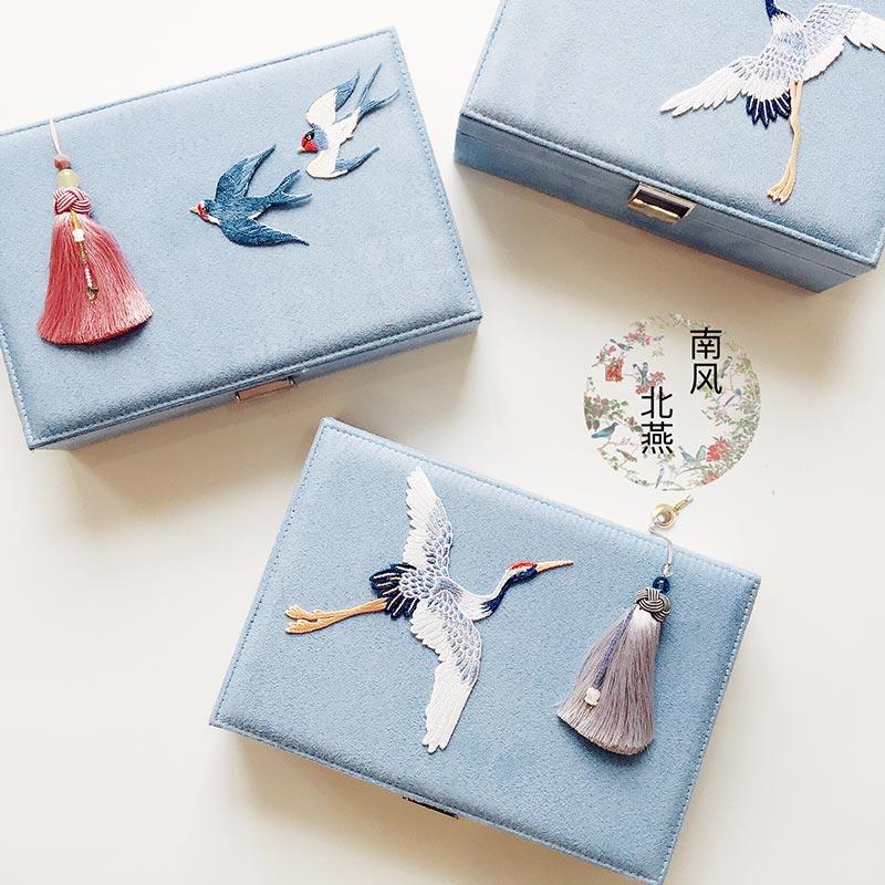 Nouveau mode bijoux boîtes de rangement serrure grande capacité oreille-clou chaîne coréenne princesse boîte de rangement anneau collier organisateurs cadeaux