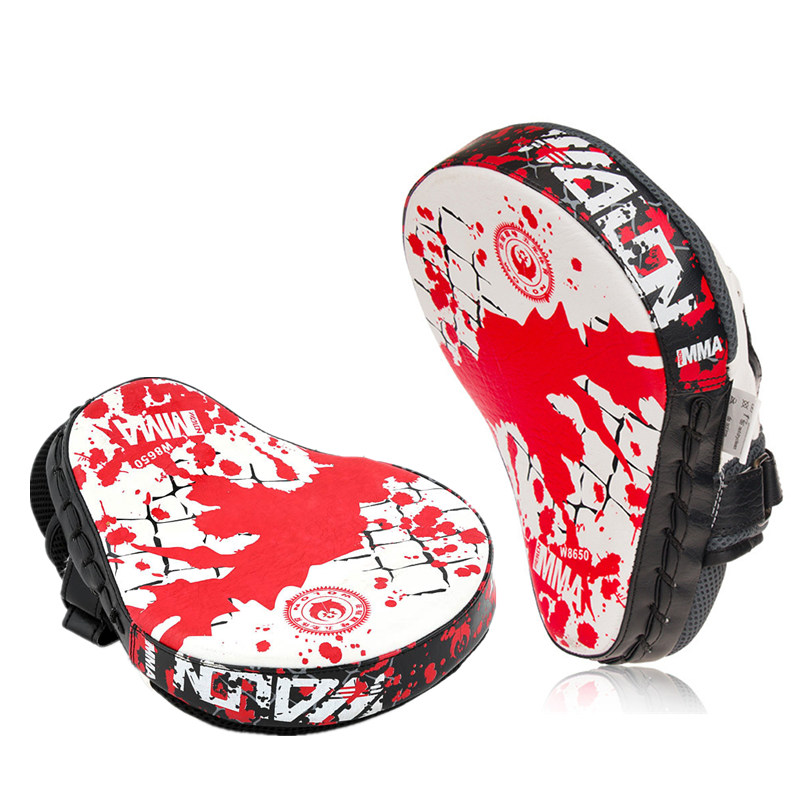 Kick Boxing Hand Target Gloves MMA Sanda Boxing Pads Martial Muay Thai Training Baffle PU Leather Hand Target Punching Bag authentic rdx inner hand wraps gloves boxing fist padded bandages mma gel thai
