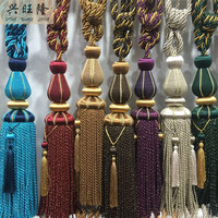XWL 1Pair Rayon Curtain Hanging Belt Balls Window Curtain Accessories Strap Tassel Tiebacks Buckle Home Decor Hanging Ropes