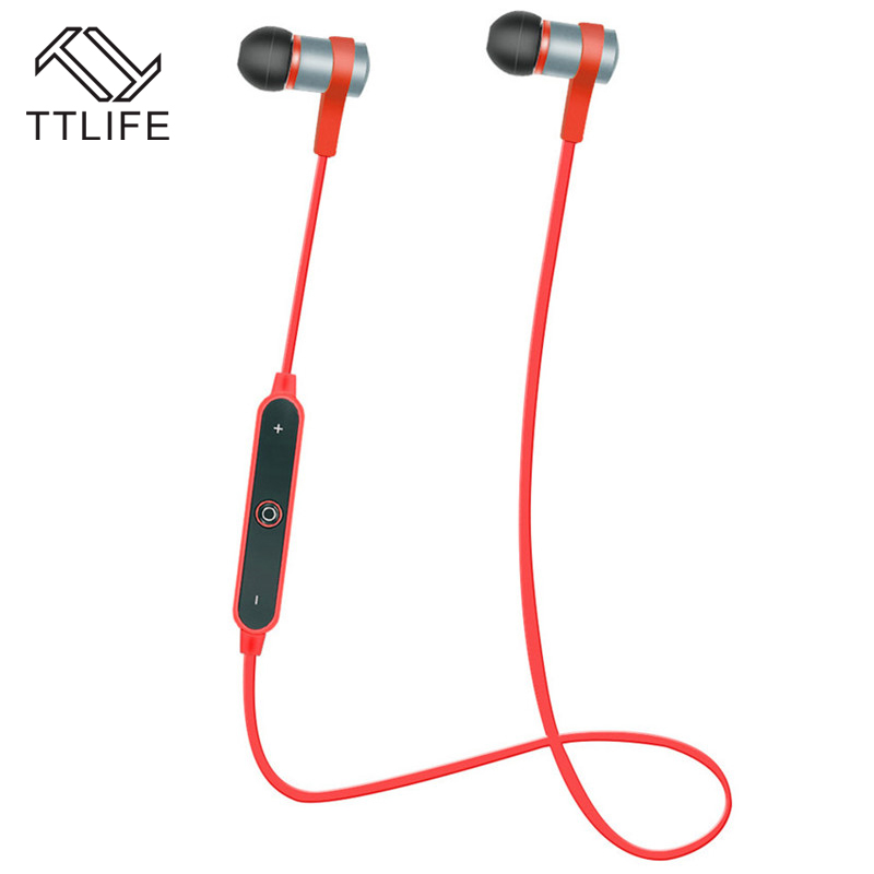 TTLIFE Metal Bluetooth 4.2 Headset Wireless Headphone Stereo Sport USB Charge Earphone with Mic For iPhone 7 xiaomi Mobile Phone