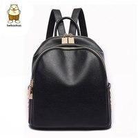 Beibaobao 2017 PU Leather Backpacks For Teenage Girls Fashion Girl S Backpacks High Quality Flower Printing