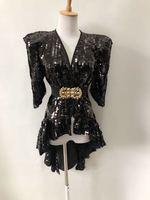 Смокинг с блестками певица платье костюмы сценический костюм ночной клуб Dj Rave наряд костюм для выступлений танцевальный костюм