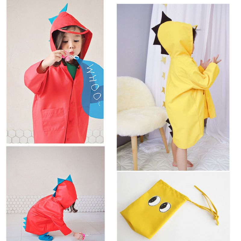 1 Piece Cartoon Animal Style Raincoat Children Raincoat For Children Rain Coat Raincoat / Rain Suit Student Poncho Drop Shipping