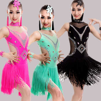 2019 New Latin Tassel Dance Skirt For Children New Arrival Sexy Rumba Sumba Competition Dancing Wear Girls Latin Dance Dress - DISCOUNT ITEM  21% OFF All Category
