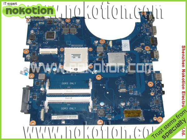 NOKOTION BA92-06686A Laptop Motherboard for Samsung R540 intel HM55 DDR3 Mainboard nokotion ba92 06129a ba92 06129b for samsung r580 intel laptop motherboard intel hm55 graphics 512m mainboard high quality