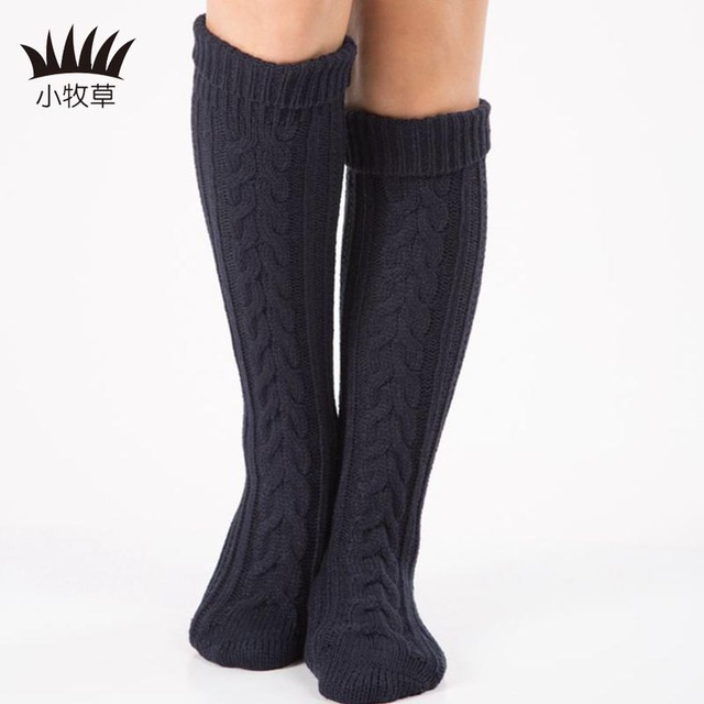 98ea084e2a2 Winter Women Girl Long Knitted Over KneeLeg Warmers Long Boot Over Knee  Thigh High Stocking Fashion