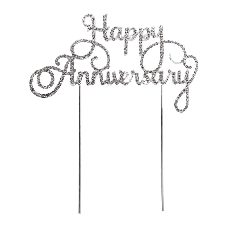 Cake Pick Fruit Pick Bar Tool Anniversary Top Topper Celebration 4 Style