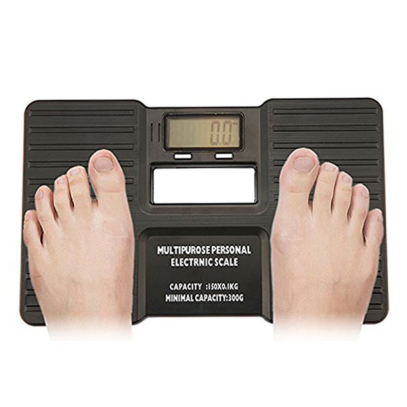 Multipurpose LCD Display Potable Personal Digital Bathroom Body Scales Electronic Health Body Weight Scale HR