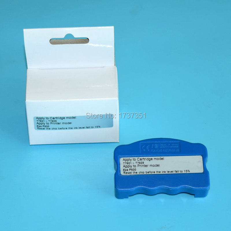 Original cartridge chip resetter for Epson SureColor P600 printer vilaxh for epson p600 chip resetter for epson surecolor sc p600 printer t7601 t7609 cartridge resetter