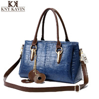 2017 New KNY KAVIN KK Design Women Bag Fashion Stone Lines Handbag Women PU Leather Handbags