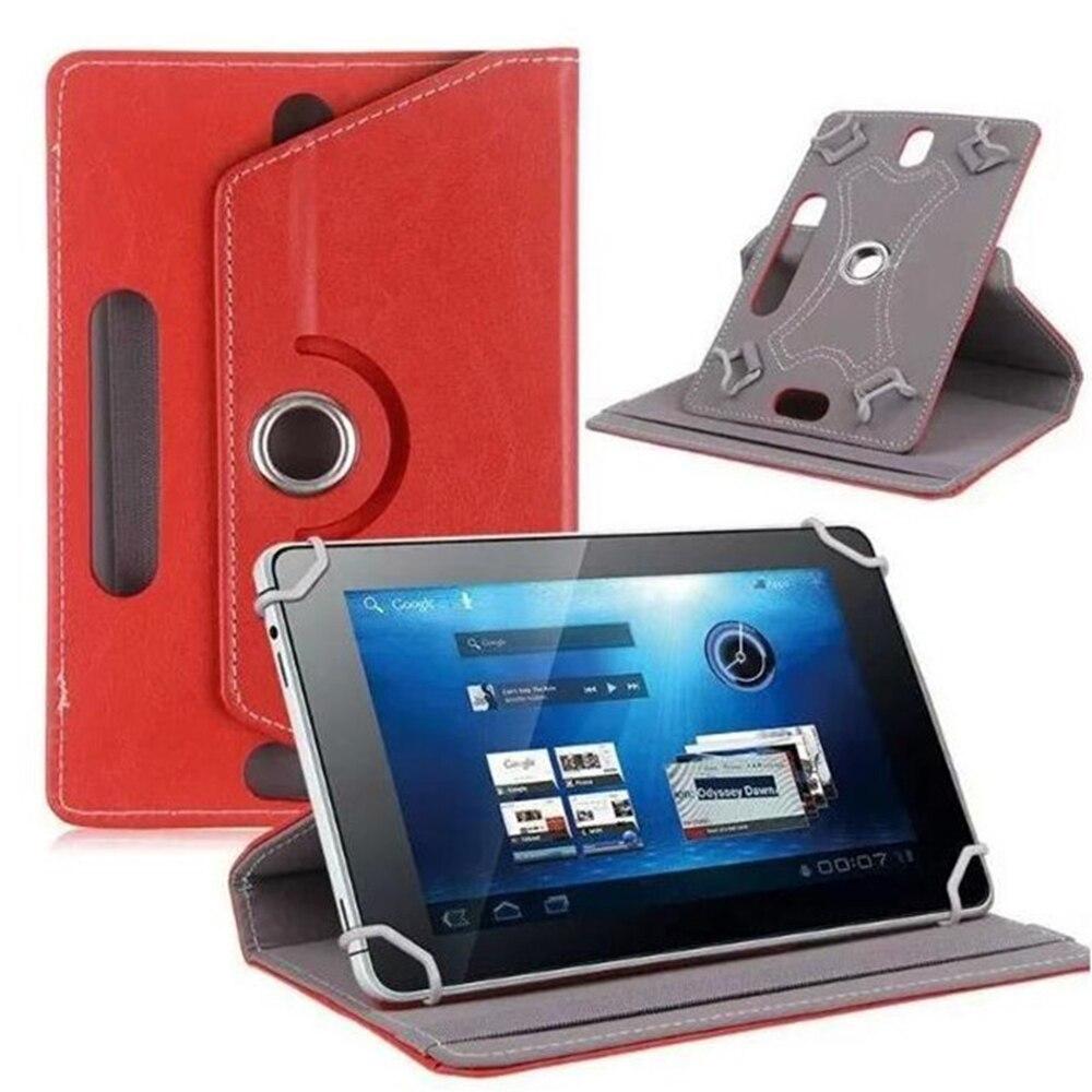 10 дюймов, 360 градусов, вращающийся чехол, чехол для универсального планшета, планшета, ПК, чехол, кожаный протектор, Универсальный Прочный рукав - Цвет: red