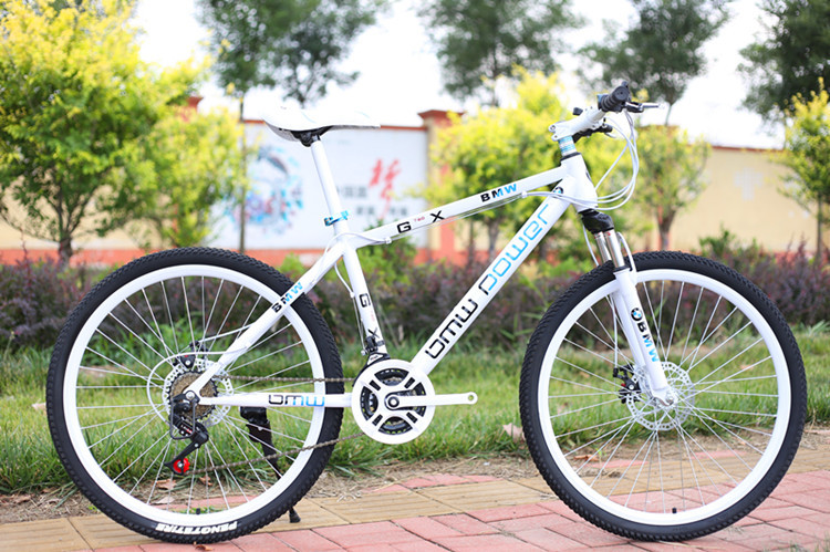 26 Inch BMW Mountain Bike 21 Speed 24 Speed 27 Speed Mountain Bike Double Disc Brakes Promotional Gift Car Student Bicycle(China)