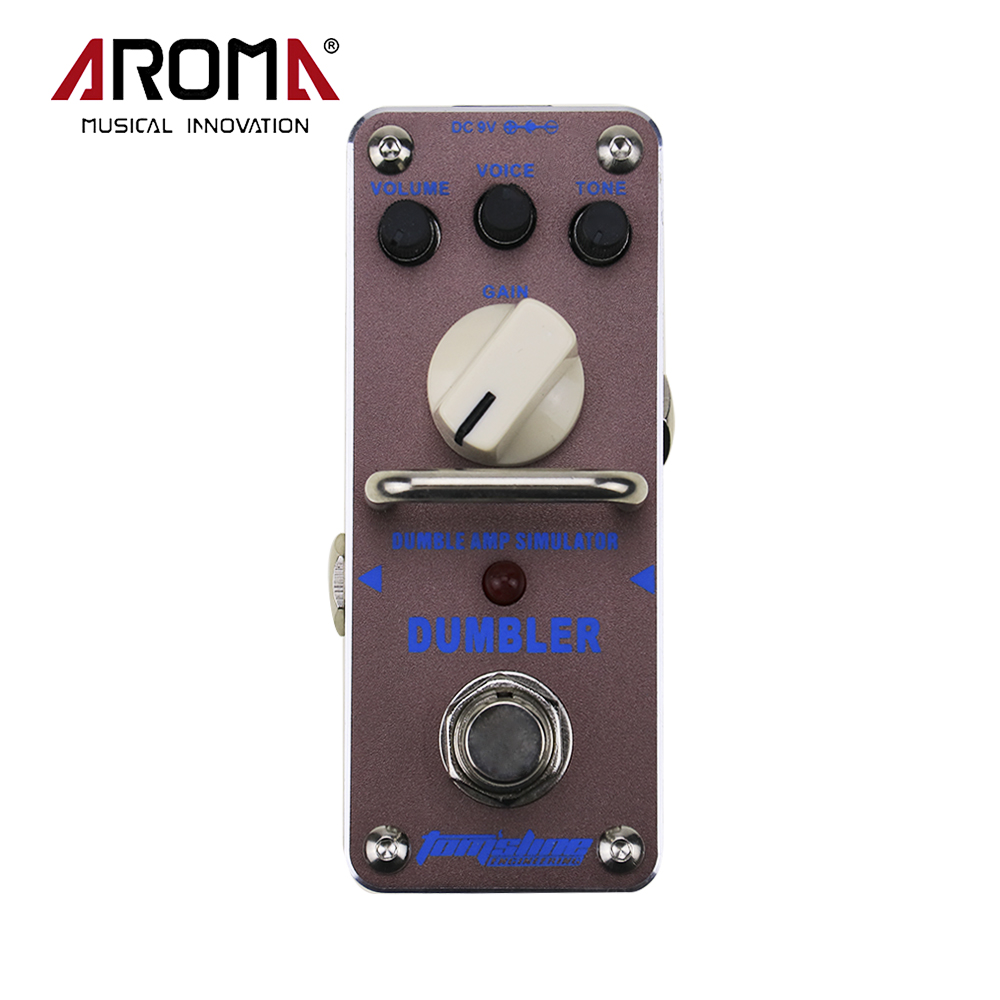 AROMA ADR-3 Dumbler Amp Simulator Mini Single Electric Guitar Effect Pedal With True Bypass aroma ape 3 pure echo digital delay electric guitar equalizer mini guitar effect pedal true bypass single guitar accessories