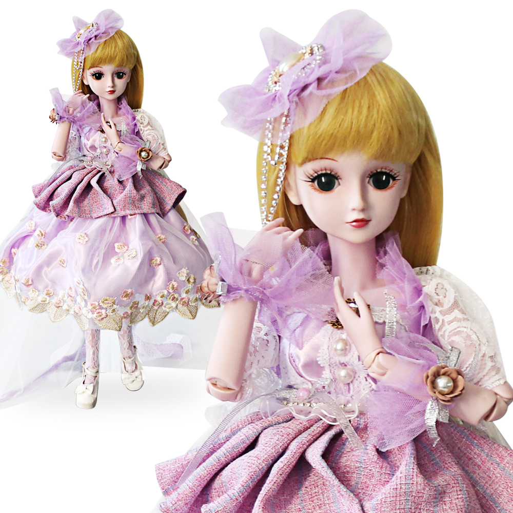 UCanaan 23.6 1/3 BJD SD Doll 60cm 19 Ball Jointed Dolls Beauty Princesss Toys ( Free Eyes + Hair + Makeup + Clothes + Shoes ) цена