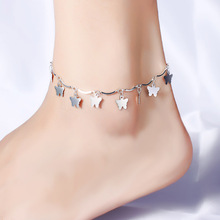1PC Hot Summer Beach Ankle Infinite 925 Unique Silver Foot Jewelry Anklets ankle bracelets for women Fidget Spinner