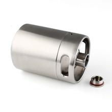 2L 64OZ 304 Stainless Steel Mini Keg Growler Mini Beer Keg  with Thread Lid Home Brew Brewing Beer Making стоимость