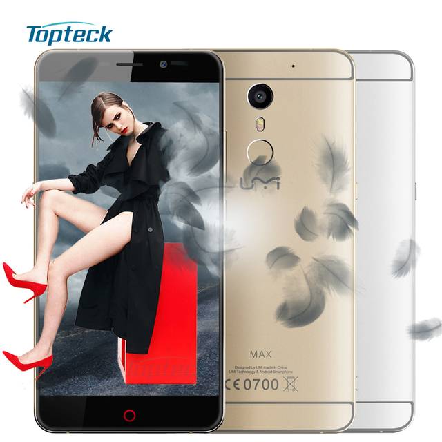 """In Stock UMI Max 4G Fingerprint 5.5"""" FHD Smartphone Android 6.0 MTK6755 Helio P10 Octa Core Cellphone 3GB+16GB 13MP Mobile Phone"""
