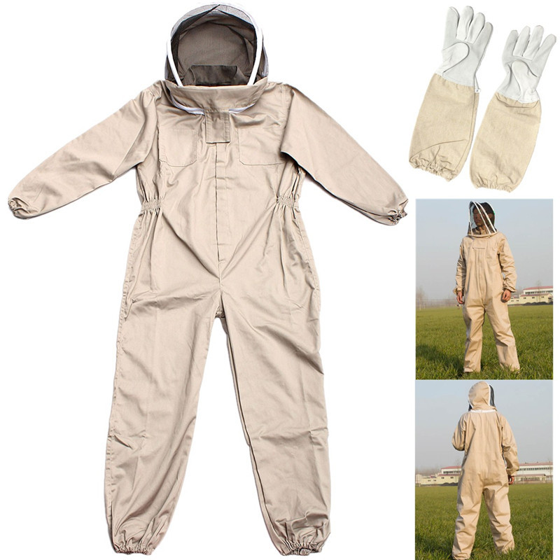 S M L Unisex Cotton Professional Beekeeping Protective Jacket Suit Bee Insect Feeding Supplies Keeping Beekeeper Equipment