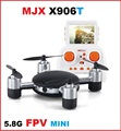 Original X906T MJX 2.4G 4CH 6-Axis Gyro 5.8G FPV RC Quadcopter RTF Mini Drones con 2.0MP HD Cámara vs x400 x601 x101