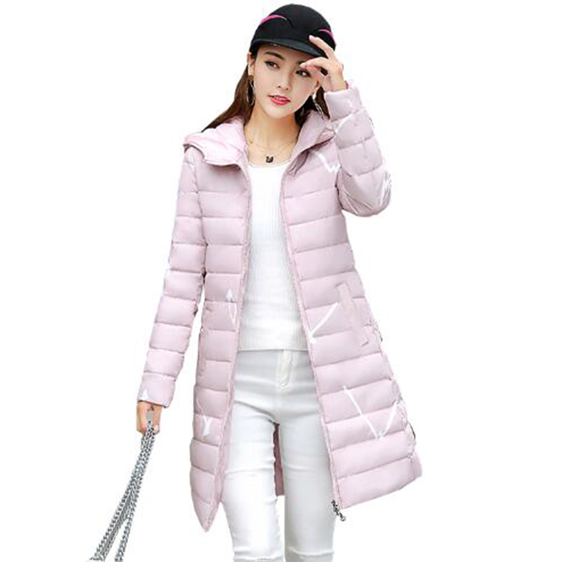 Women's Winter Slim Jacket 2017 New Long Cotton Female Parkas Warm Winter Coat Women Ladies Hooded Jackets And Coats PW1049 muxu new autumn winter coat women basic jacket coat female slim hooded cotton coats casual silver long sleeve ladies jackets