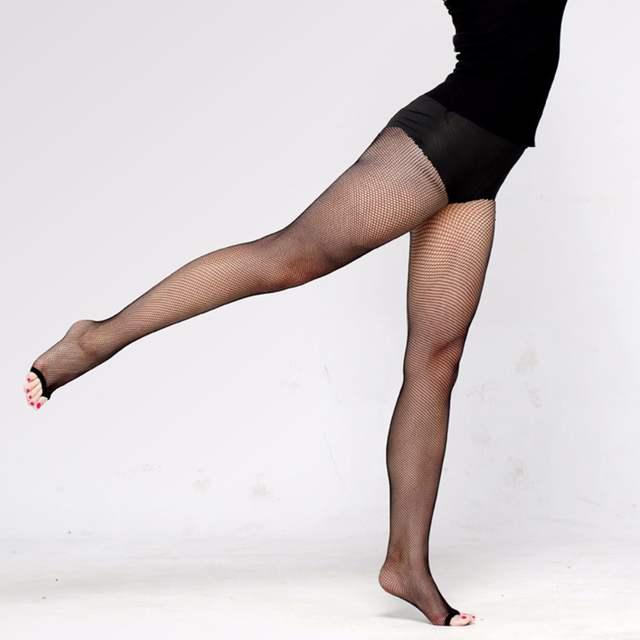 d84190622 placeholder Mulheres Meias Arrastão de Malha Meia-calça Sexy Dedo Aberto  Collants Femme Collant Dança Latina