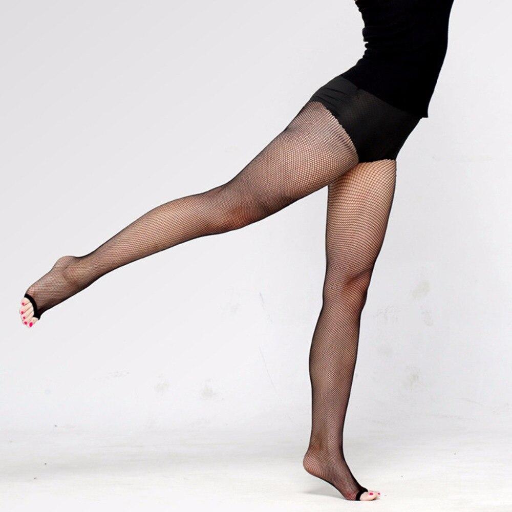 Women Fishnet Tights Mesh Sexy Pantyhose Open Toe Collants Latin Dance Collant Femme Dancer Hosiery Temptation Medias