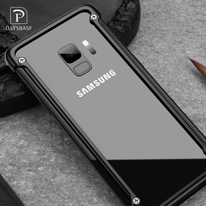 Airbag Metal Case For Samsung Galaxy S9 S9 Plus Personality Airbag Shell for Samsung S8 Plus Metal Bumper Cover Case
