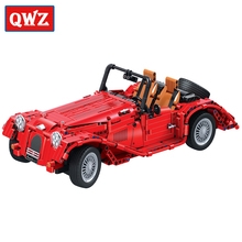 Technic Convertible Roadster Vintage Classic Car Legoes Building Blocks Sets Bricks Model Kids Classic Toys new technic city pedal motorcycle model legoes building blocks sets bricks kids classic toys gifts for children