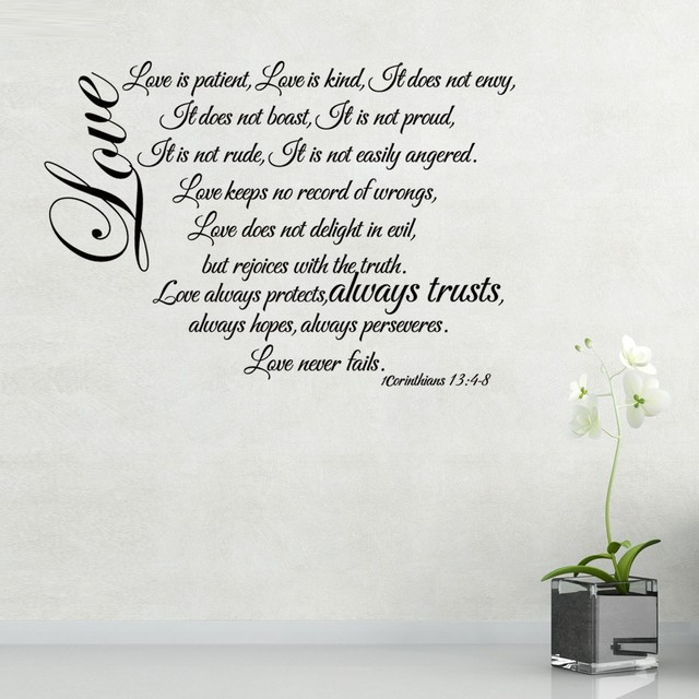 Corinthians 6060 60 Love Chapter Love Is Patient Love Never Fails Stunning Love Is Patient Quote