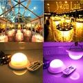 10 шт./лот Бесплатная доставка Беспроводная перезаряжаемая RGB светодиодная система освещения водонепроницаемая для мебели  лампа Lite LED под н...