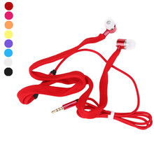 Universal 3.5mm Shoelace Stereo Handfree Hands-free Earphone In-ear Headset With Mic for Cell phone Android iOS Wholesale