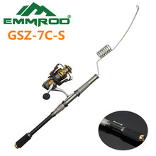 The New 2016 EMMROD Elastic Fishing Combo Stainless Steel Rod Road and Boat Fishing rafts fishing Rocky GSZ-7C-S Fishing set