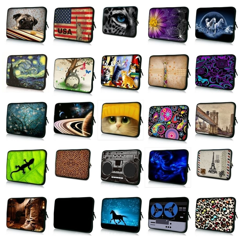 10.1 11.6 13 13.3 14.4 15.4 15.6 17.3 inch Van Gogh Print Laptop Bag Sleeve Notebook Cover Case For Macbook Air/Pro/Retina