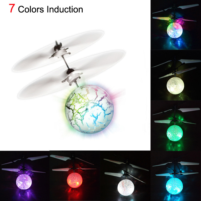 HIINST Plastic Flash Flying Ball Infrared Induction Colorful LED Disco RC Helicopter Kids LightupToy Sep7 Dropship