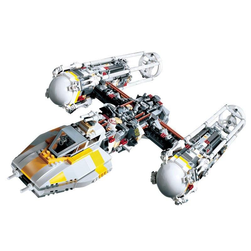 ФОТО bricks 05040 1473Pcs Star Wars Y-wing Attack Starfighter Model Building Kit Mini Bricks Compatible 10134 Children Toy Gift