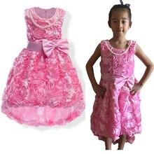 ФОТО baby girl princess dress girls wedding party flower tutu dresses mermaid trumpet sleeveless prom dresses evening gown petticoat