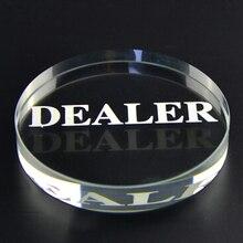 1 шт. акриловая КНОПКА 58 мм Диаметр нажатия покерных карт Кнопка Дилера покера фишки покера
