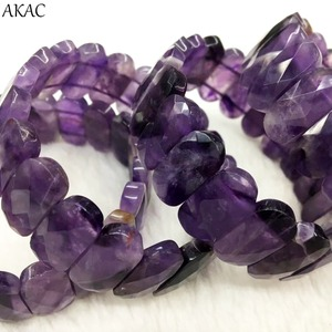 Image 4 - Genuine amethyst bangle amethyst faceted bracelet women bracelet