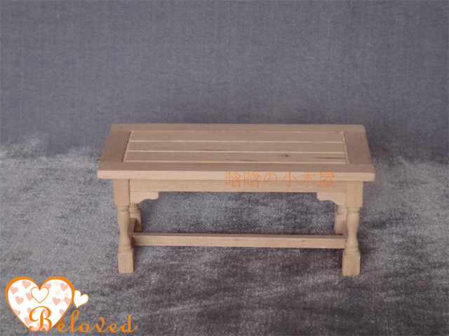 Dollhouse Dining Room Furniture Unfinished Diy Miniature Table Wooden Doll Desk In