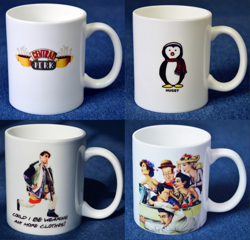 TV Series Friends Cartoon Mugs Ceramic Collectible Coffee Milk Tea Mug White Comic Lovers Cups Christmas Birthday Gift 300ML