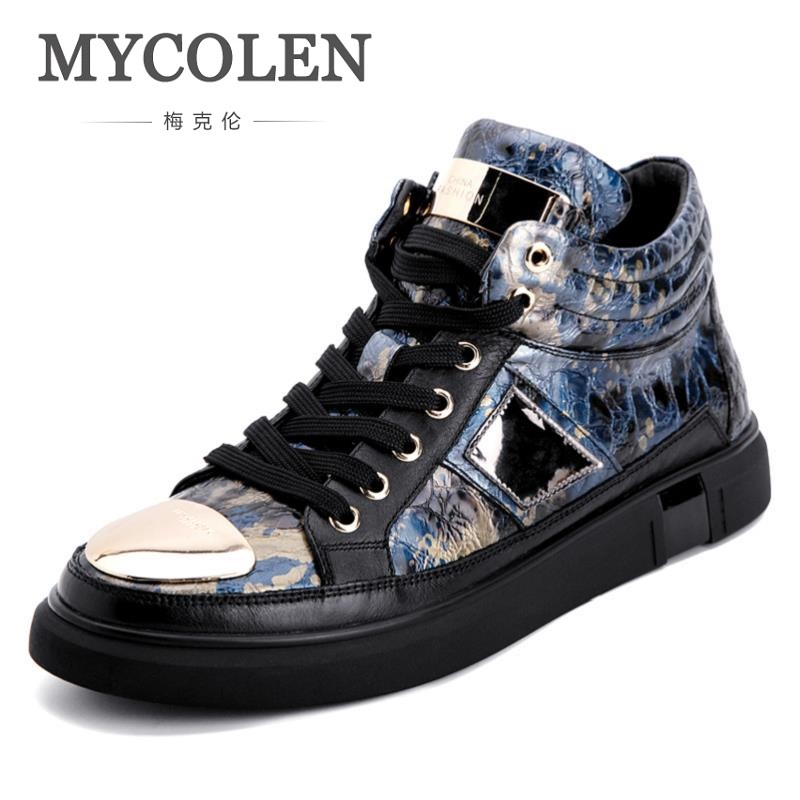 MYCOLEN 2018 New Fashion Men Casual Shoes Brand Design Hip Top Men's Casual High Quality Flats Shoes Scarpe Uomo Invernali женские кеды golden goose shoes 2015 ggdb uomo scarpe scollate