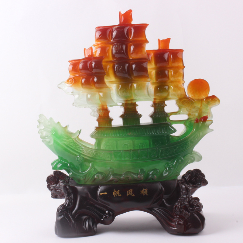 2015 new Resin crafts imitation jade processing Yiwu smooth ornaments creative gifts manufacturers wholesale N90 - 2